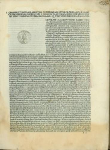 Orthographia dictionum e Graecis tractarum. Ed. Hieronymus Bononius.