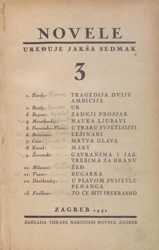Image from object titled 3 / [preveli Jakša Sedmak,... et al.].