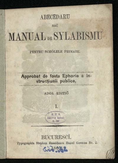Abecedaru sau manual de sylabismu pentru schólele primare