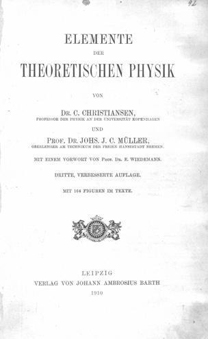 Elemente der theoretischen Physik