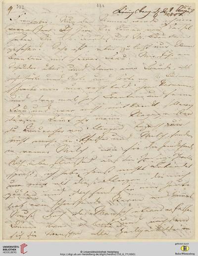 Brief von Achim von Arnim an Clemens Brentano - 1807-08-21