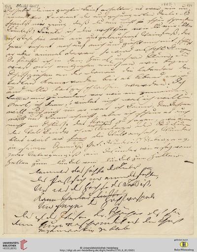 Brief von Achim von Arnim an Clemens Brentano - 1807
