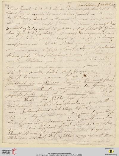 Brief von Achim von Arnim an Clemens Brentano - 1808-02-18