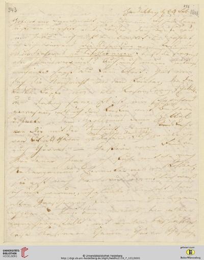 Brief von Achim von Arnim an Clemens Brentano - 1808-02-24