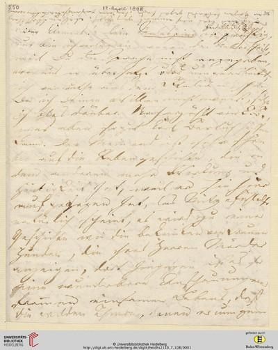 Brief von Achim von Arnim an Clemens Brentano - 1808-04-11