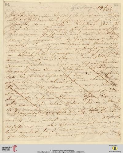 Brief von Achim von Arnim an Clemens Brentano - 1808-11-14