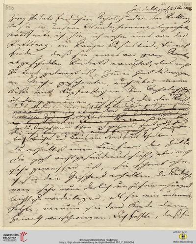 Brief von Achim von Arnim an Clemens Brentano - 1808-01-25