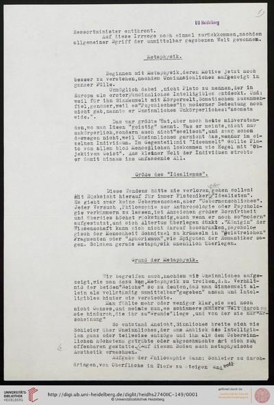 Kunstphilosophische Uebungen (Manuskripttitel) - 1928
