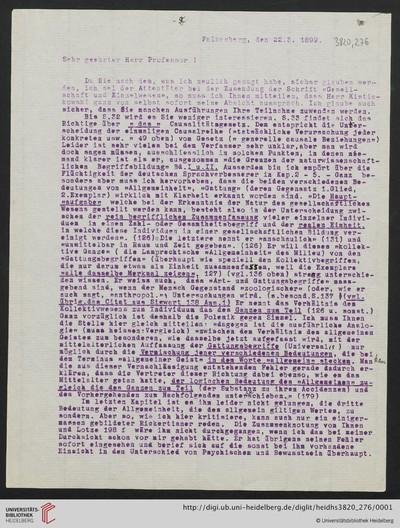 Brief von Emil Lask an Heinrich Rickert - 1899-03-22