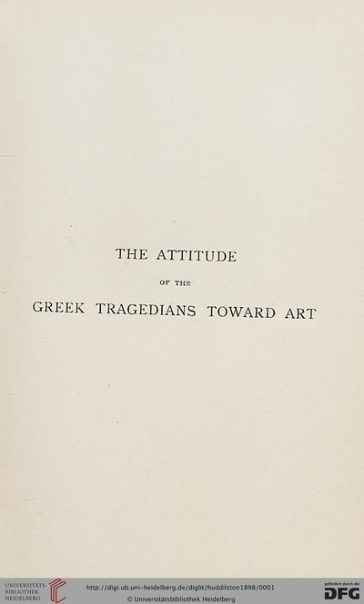 Image from object titled The attitude of the Greek tragedians toward art