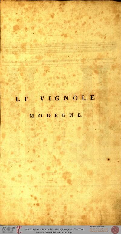 Le Vignole moderne / Der neue Vignola oder Elementar-Buch der Baukunst: Grundsätze der fünf Säulenordnung / Principes des cinq ordres