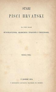 Stari pisci hrvatski : Pjesme Nikole Nalješkovića, Andrije Čubranovića, Miše Pelegrinovića i Saba Mišetića Bobaljevića i Jegjupka neznana pjesnika : 8