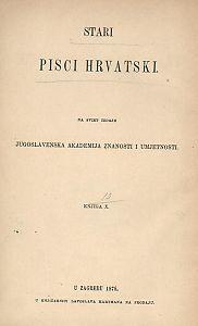 Stari pisci hrvatski : Djela Frana Lukarevića : 10