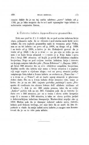 Četvrto izdańe Appendinove gramatike