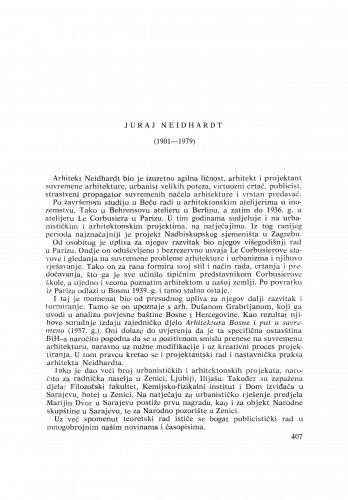 Ljetopis : Juraj Neidhardt (1901-1979) : [nekrolozi]