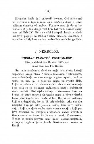 Ljetopis : Nikolaj Ivanović Kostomarov : [nekrolog]
