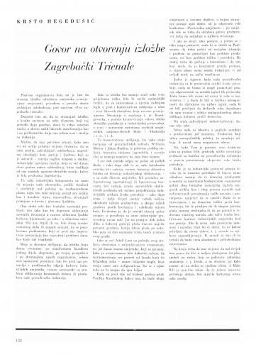 Govor na otvorenju izložbe Zagrebački Triennale