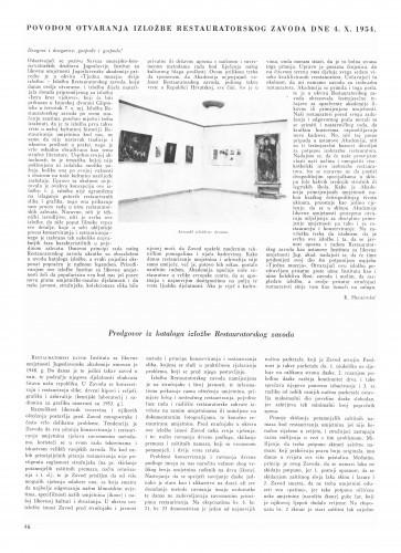 Prigodom otvaranja izložbe / Krsto Hegedušić. Predgovor kataloga