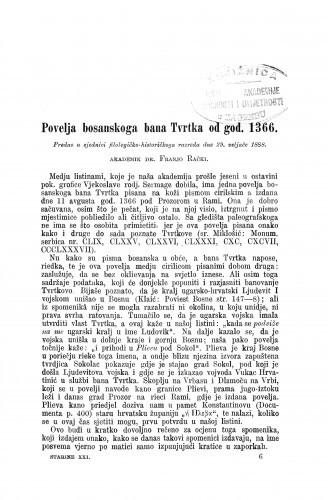 Povelja bosanskoga bana Tvrtka od god. 1366.