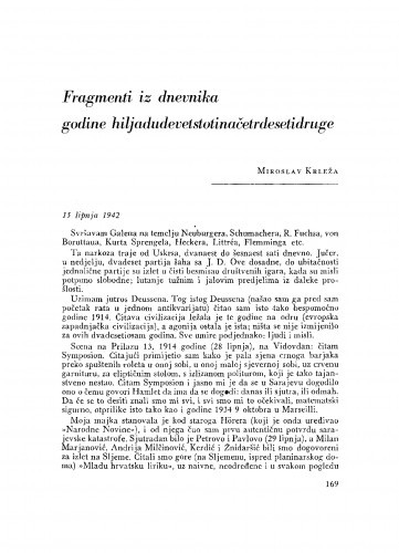 Fragmenti iz dnevnika godine hiljadudevetstotinačetrdesetidruge