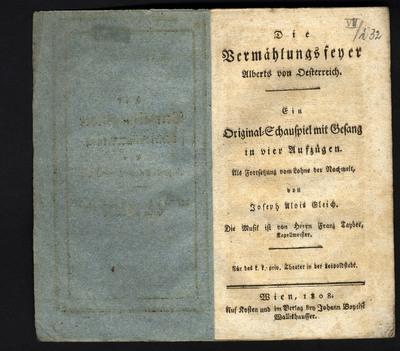 Die Vermählungsfeyer Alberts von Österreich