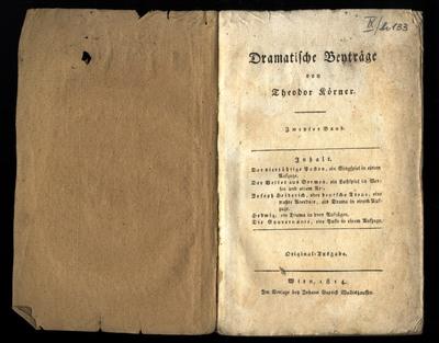 Dramatische Beyträge von Theodor Körner