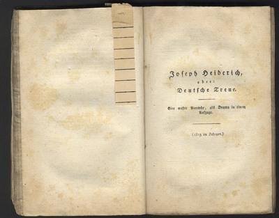 Joseph Heiderich oder Deutsche Treue
