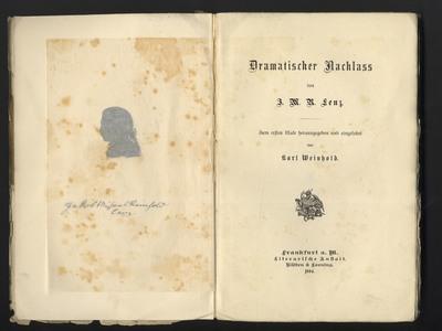 Dramatischer Nachlaß von J. M. R. Lenz