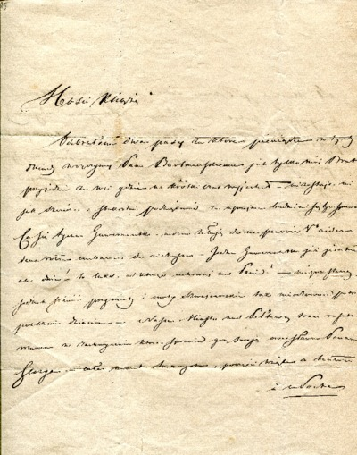 List Aleksandra Fredry z dn. 17 marca 1841 r.