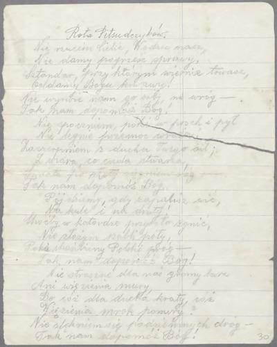 Wiersz Rota Piłsudczyków Brak Autora Europeana Collections