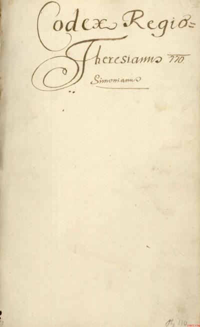 Codex Theresianus 770 Simonianus