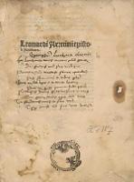 Epistolarum familiarum libri IX / Ed. Ioannes Honorius Cubitensis.