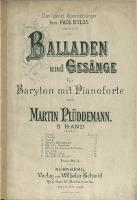Balladen und Gesänge : für Baryton mit Pianoforte Bd 2