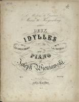 Deux Idylles : pour piano. Op. 1. No 1, Épanchemant