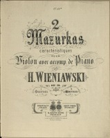 2 Mazurkas : caractéristiques : pour Violon avec. acoomp. de Piano : op. 19