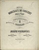 Deux Morceaux de Concert : pour le Piano. No 2, Romance-étude : Op. 10