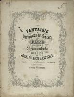 """Fantaisie et variations de concert : pour piano : sur des motifs de la """"Somnambula"""" de Bellini : Op. 6"""
