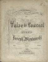 Valse de Concert : pour le piano : Op. 3