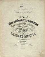 Douze airs nationaux roumains : (ballades, chants des bergers, airs de danse etc.) : recueillis et transcrits pour la piano [1]