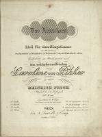 Das Alpenhorn : Lied für eine Singstimme mit Begleitung des Pianoforte und Waldhorn (od. Violoncell) oder des Pianoforte allein : 18tes Werk