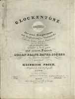 Glockentöne : Lied für eine Singstimme mit Begleitung des Violoncells (oder der Violine oder des Waldhorns) und des Piano-Forte : 21tes Werk