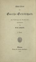 Briefe von Goethes Mutter an die Herzogin Anna Amalia