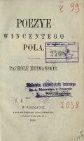 Poezye Wincentego Pola. T. 1, Pachole hetmańskie