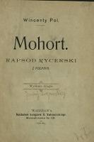 Mohort : rapsod rycerski z podania
