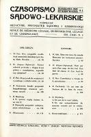 Czasopismo Sądowo-Lekarskie 1931 R.4 nr 2