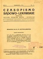Czasopismo Sądowo-Lekarskie 1932 R.5 nr 3