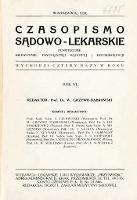 Czasopismo Sądowo-Lekarskie 1933 R.6 nr 1
