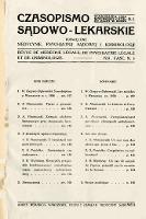 Czasopismo Sądowo-Lekarskie 1931 R.4 nr 3