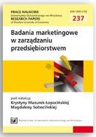 Postmodernizm w zachowaniach konsumentów na rynku turystycznym. Prace Naukowe Uniwersytetu Ekonomicznego we Wrocławiu = Research Papers of Wrocław University of Economics, 2011, Nr 237, s. 109-118