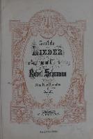 Samlichte Lieder fur eine Singstime mit Klavierbegleitung von Robert Schumann. Bd. 1 : [fur Tiefe Stimme]